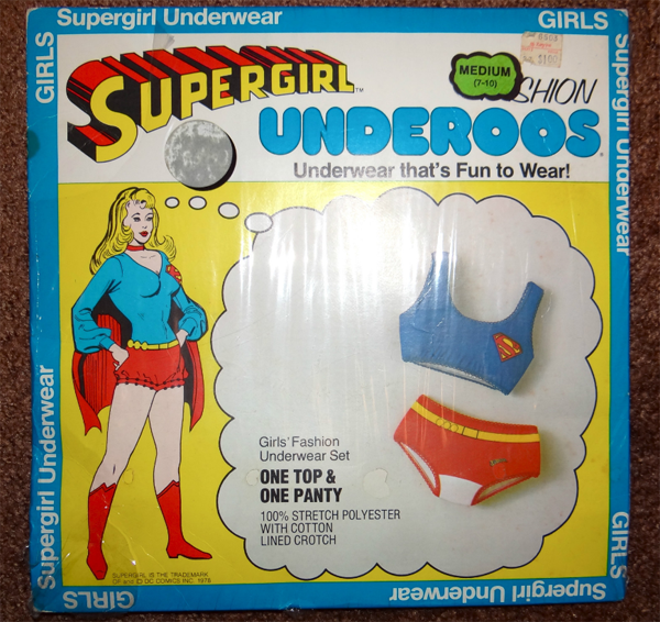 super girl underoos vintage seventies